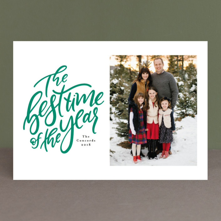 """""""The best time"""" - Bohemian Christmas Photo Cards in Apple by Lea Delaveris."""