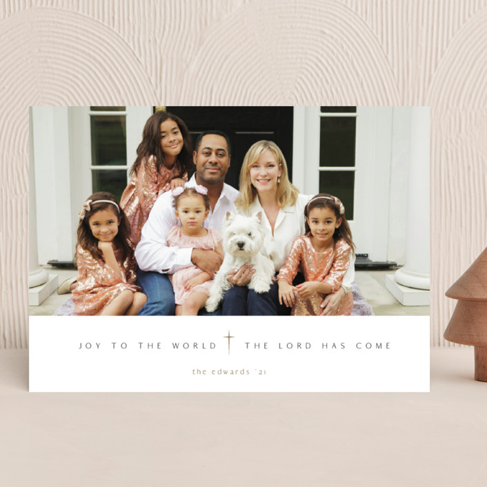 """""""Pure Joy To The World"""" - Christmas Photo Cards in Snow by fatfatin."""