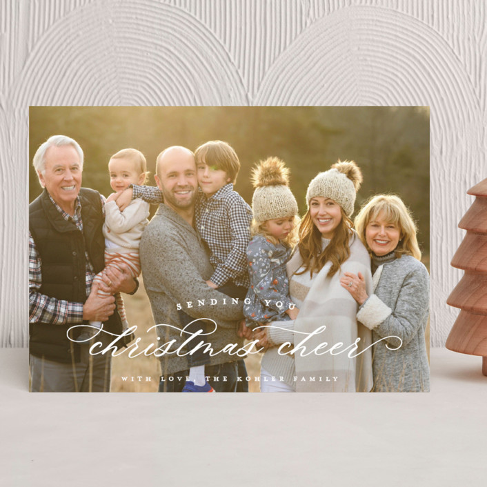Sending Christmas Cheer holiday card