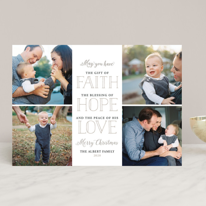 """Gift of Faith"" - Christmas Photo Cards in Cotton by Jessie Steury."