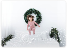 This is a white photo christmas card by Jennifer Postorino called Gentle Flurry with standard printing on smooth signature in standard.