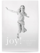This is a white photo christmas card by Kristie Kern called Exuberant with standard printing on signature in standard.