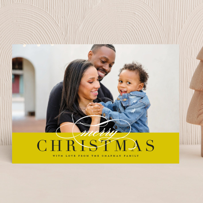 """""""Simple Elegance"""" - Christmas Photo Cards in Cardinal by Jessica Williams."""
