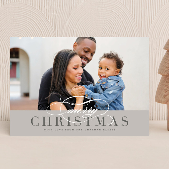 """""""Simple Elegance"""" - Christmas Photo Cards in Fog by Jessica Williams."""