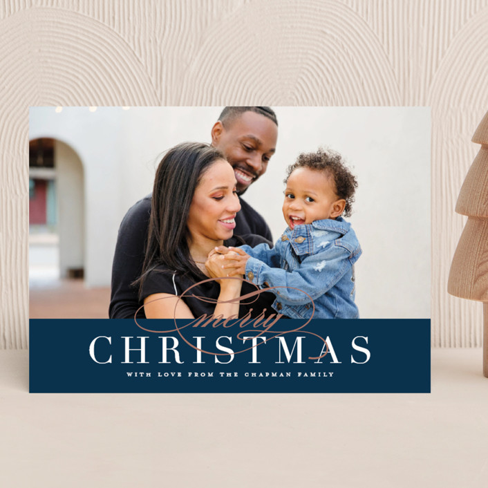 """Simple Elegance"" - Christmas Photo Cards in Cardinal by Jessica Williams."