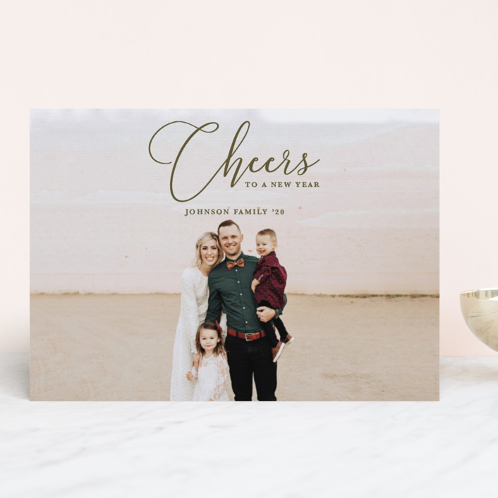 """""""Great Wonders"""" - Christmas Photo Cards in Olive by Kasia Labocki."""