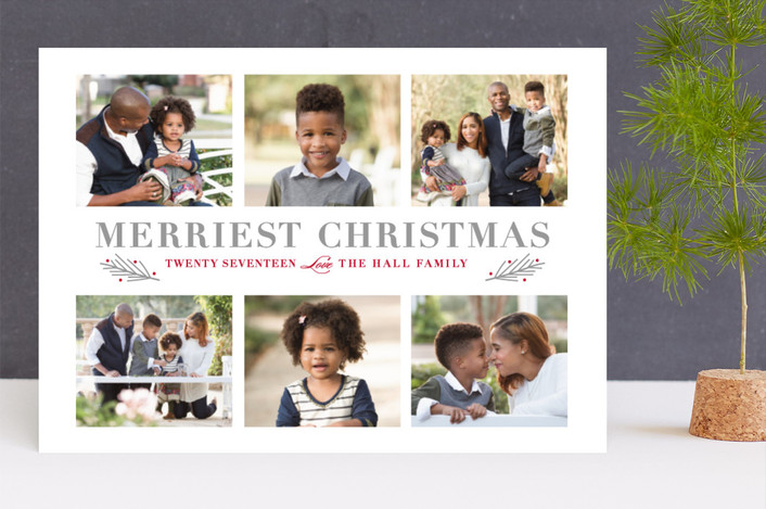 """""""Wondrous"""" - Christmas Photo Cards in Smoke by Stacey Meacham."""