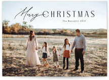 This is a black photo christmas card by Carolyn MacLaren called Curvy with standard printing on triplethick in standard.