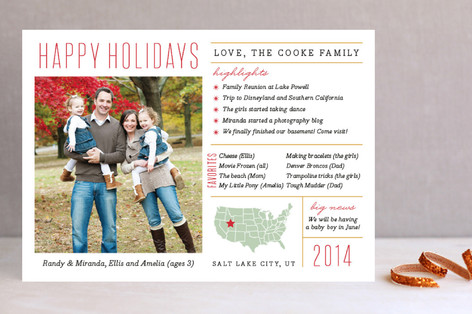 Fun Facts Christmas Photo Cards