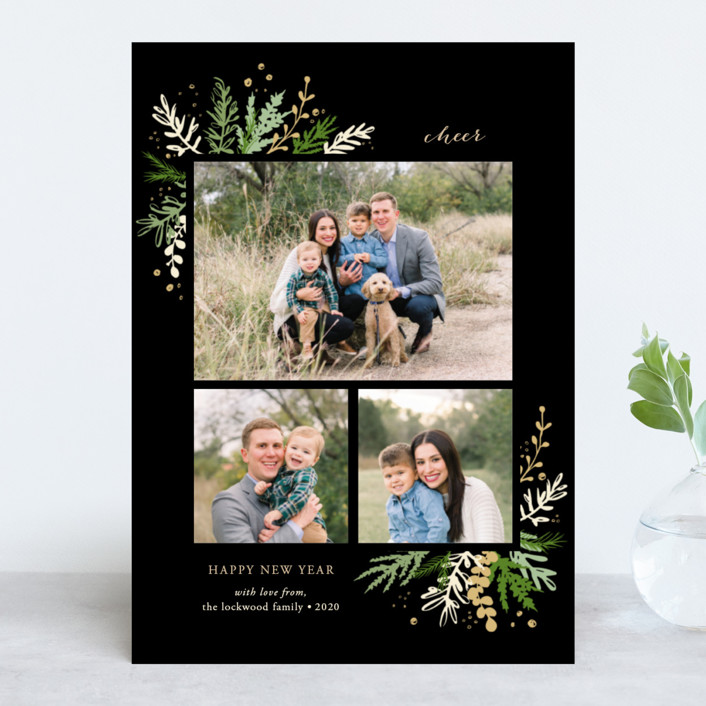 """Winter Greens"" - Christmas Photo Cards in Pine by Paula Pecevich."