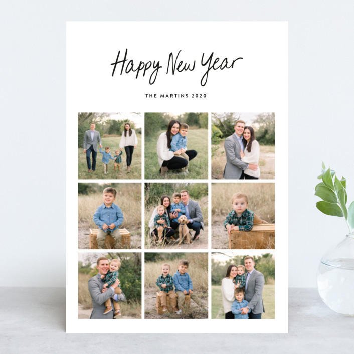 """""""Faith Hope & Love"""" - Christmas Photo Cards in Ebony by Basil Design Studio."""