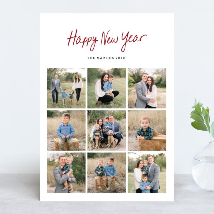"""Faith Hope & Love"" - Christmas Photo Cards in Ruby by Basil Design Studio."