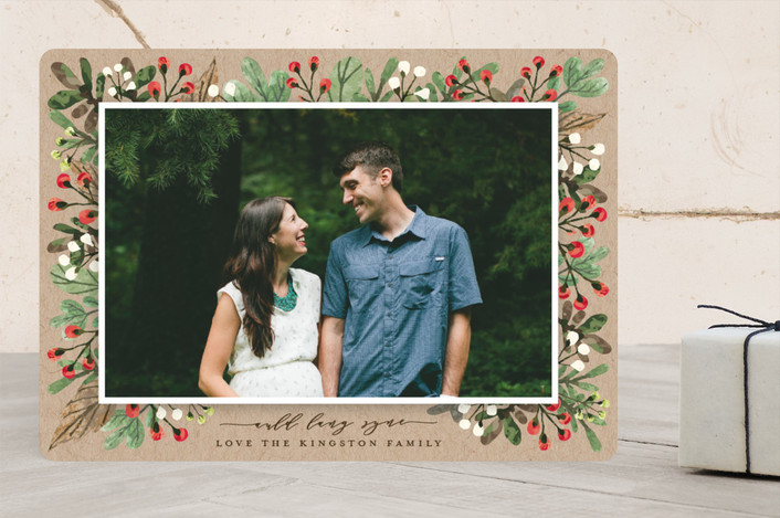 """All Decked Out"" - Christmas Photo Cards in Natural by Michelle Poe."