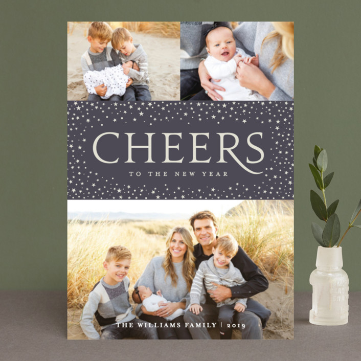"""""""Radiant Glory"""" - Christmas Photo Cards in Midnight by Olivia Raufman."""