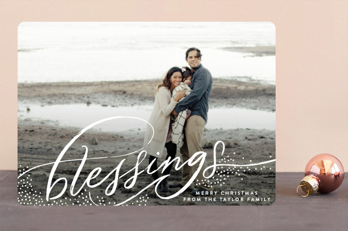 """Etherial Blessings"" - Bohemian Christmas Photo Cards in Snow by Alethea and Ruth."
