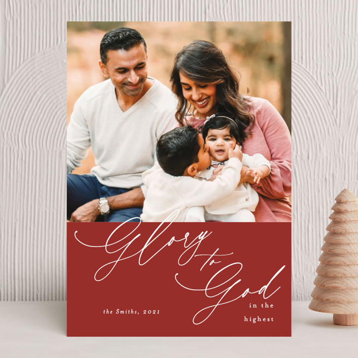 """""""christmas glory"""" - Christmas Photo Cards in Holly by Kasia Labocki."""
