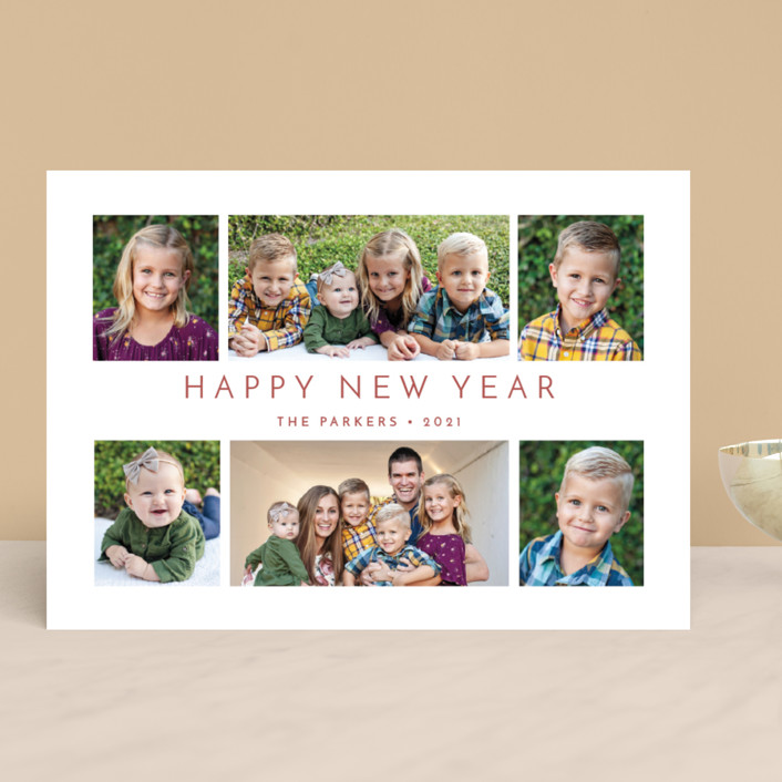 """All Around Us"" - Christmas Photo Cards in Cardinal by Lisa Assenmacher."
