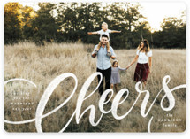 This is a white photo christmas card by Pink House Press called Rejoice! with standard printing on smooth signature in standard.