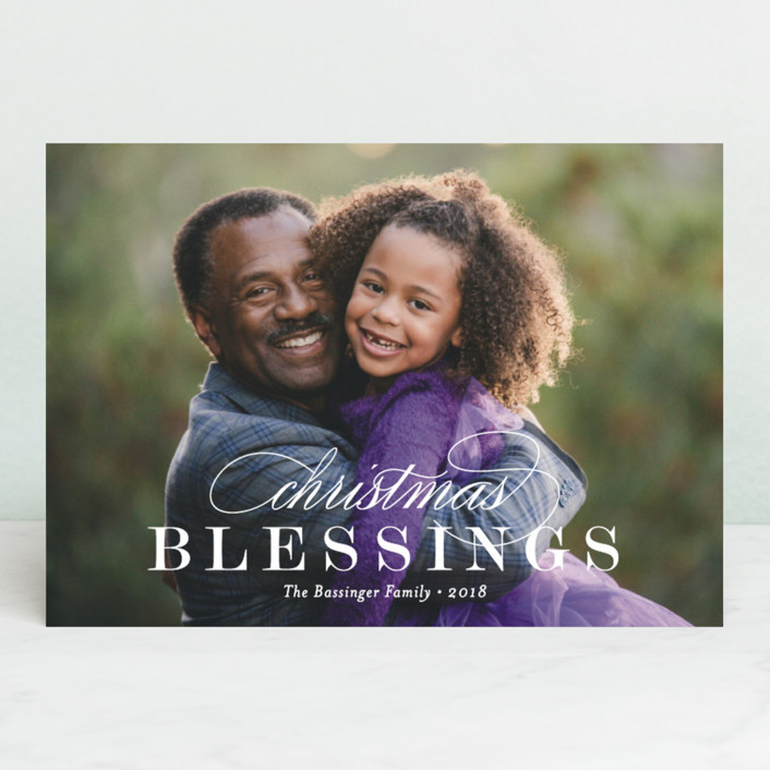 """Classic Christmas Blessings"" - Christmas Photo Cards in Snow by Kimberly FitzSimons."