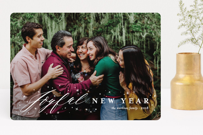 """Joyfully Blessed"" - Christmas Photo Cards in Snow by fatfatin."