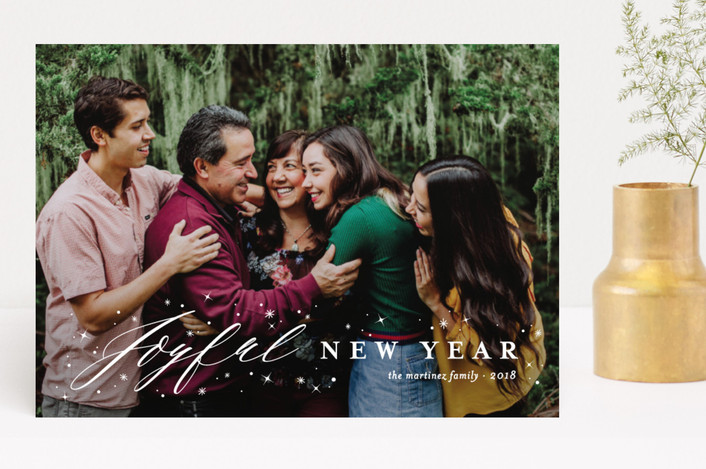 """""""Joyfully Blessed"""" - Full-Bleed Photo, Modern Christmas Photo Cards in Snow by fatfatin."""