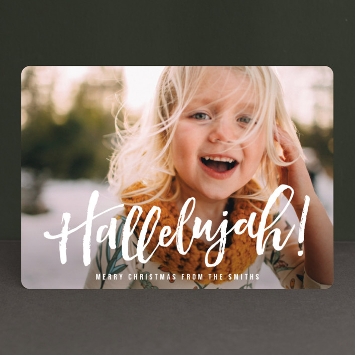 """Hallelujah for the Holidays"" - Christmas Photo Cards in Snow by Chryssi Tsoupanarias."