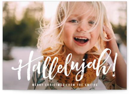 Hallelujah for the Holidays Christmas Photo Cards