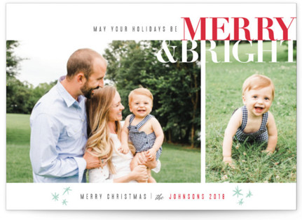 Merry & Bright Christmas Photo Cards