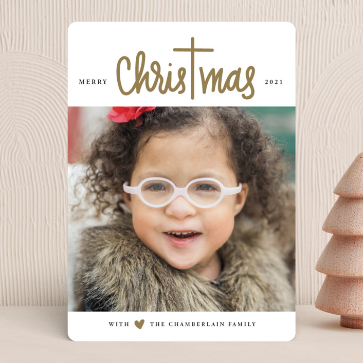 """""""Christ in Christmas"""" - Modern Christmas Photo Cards in Reindeer Antlers by Up Up Creative."""