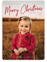 This is a red photo christmas card by Liz Conley called A Signature Holiday with standard printing on smooth signature in standard.