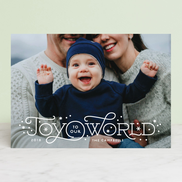 """Our joyful world"" - Christmas Photo Cards in Snow by Jennifer Wick."