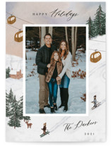 This is a brown photo christmas card by Elly called Ski with standard printing on smooth signature in standard.