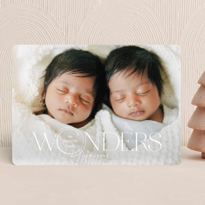 """""""Full of Wonders"""" - Christmas Photo Cards in Dove by Monika Drachal."""