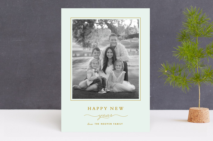 """""""Classic"""" - Christmas Photo Cards in Frost by Stacey Meacham."""