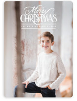 This is a white photo christmas card by Laura Bolter Design called Simple Wishes with standard printing on smooth signature in standard.