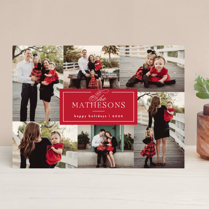 """""""Formal Name"""" - Christmas Photo Cards in Berry by Kelly Schmidt."""