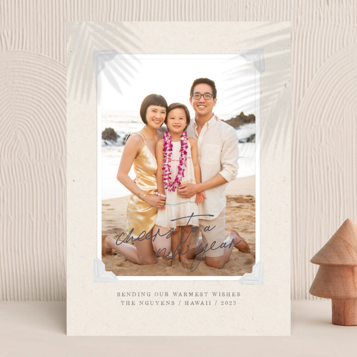 """""""Christmas Vacay"""" - Bohemian Christmas Photo Cards in Sky by Design Lotus."""