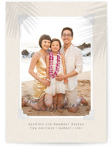 This is a beige photo christmas card by Design Lotus called Christmas Vacay with standard printing on smooth signature in standard.