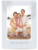 This is a blue photo christmas card by Design Lotus called Christmas Vacay with standard printing on smooth signature in standard.