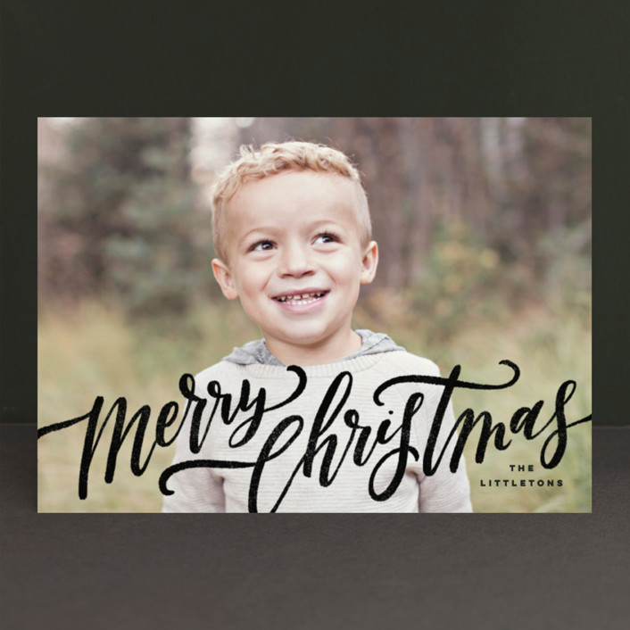 """""""A Sweet + Wonderful Life"""" - Christmas Photo Cards in Winter by Wildfield Paper Co.."""