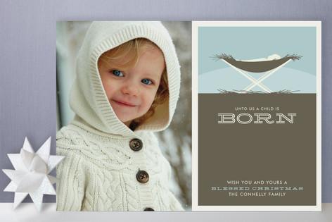 Unto Us Christmas Photo Cards