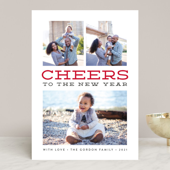 """""""Merry Gallery"""" - Bold typographic, Modern Christmas Photo Cards in Snowflake by Susan Asbill."""