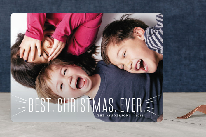 """Joyful and Triumphant"" - Christmas Photo Cards in White by Ellis."