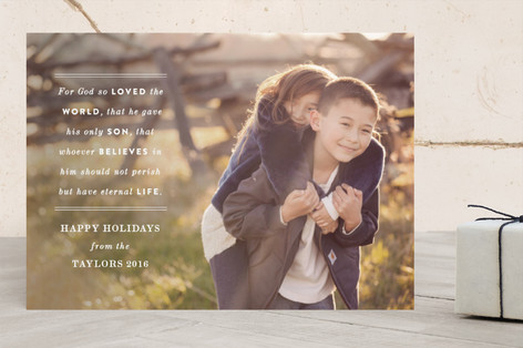 John 3:16 Christmas Photo Cards