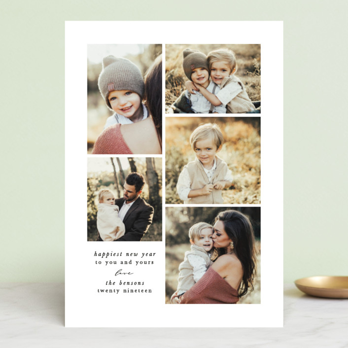 """minimalist merry"" - Christmas Photo Cards in Lily by Sweta Modi."