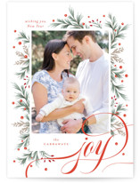 This is a red photo christmas card by Melanie Kosuge called MOST FESTIVE with standard printing on smooth signature in standard.