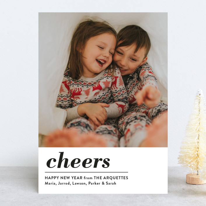 """Ho Ho Xo"" - Christmas Photo Cards in Snow by Erika Firm."