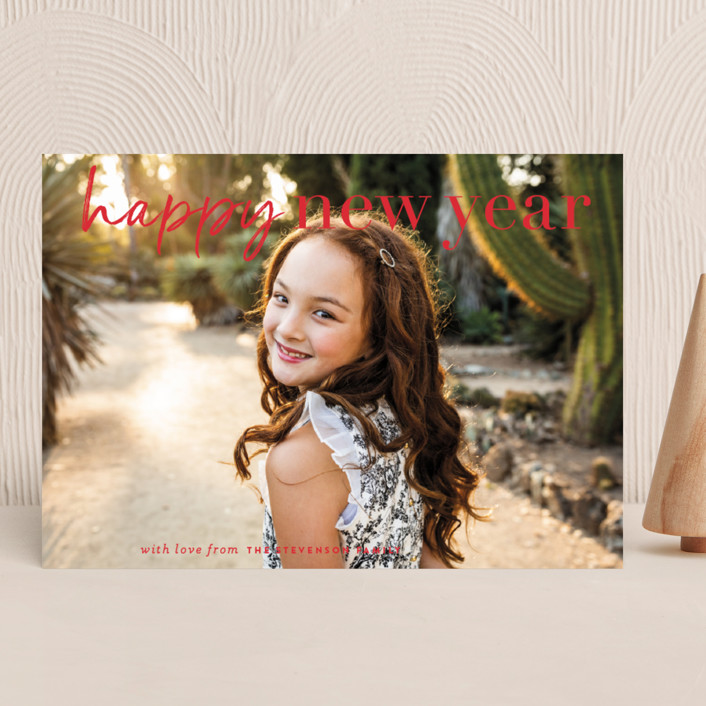 """""""very merry moment"""" - Christmas Photo Cards in Holly by Sara Hicks Malone."""