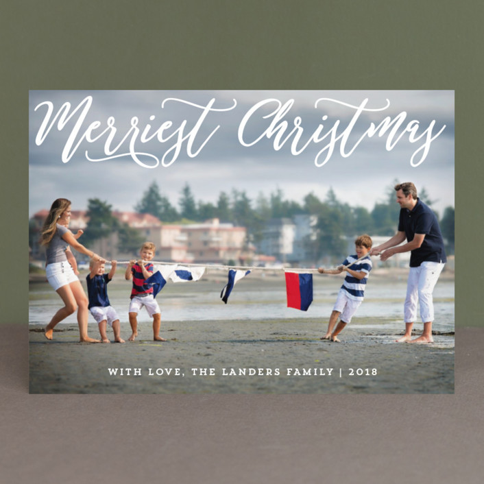 """Happiest Overlay"" - Christmas Photo Cards in Snow by Chasity Smith."