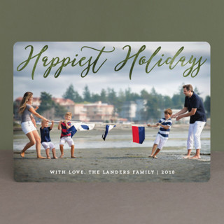 Happiest Overlay Christmas Photo Cards